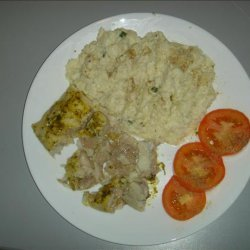 Boston Bluefish & Faux Taters/Cauliflower. recipe