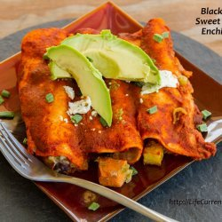 Vegetarian Black Bean Enchiladas recipe
