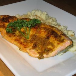 Spice Rubbed Trout With Cauliflower Puree recipe