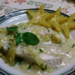Poached Fish With Starfruit Sauce recipe