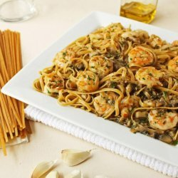 Sautéed Shrimp and Mushroom Pasta recipe