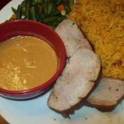Glazed Pork Tenderloin With Spicy Mustard Dipping Sauce recipe