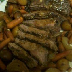 Crock Pot Roast Beef With Mushroom and Sun-Dried Tomato Gravy recipe