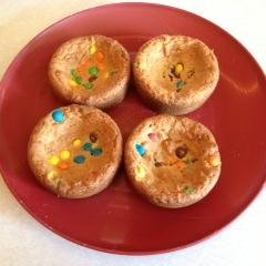 Pie Pan Desserts - Peanut Butter Cookie Pie With Mini M&M's recipe