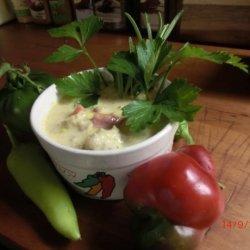 Hungarian Stuffed Hot Pepper Chowder #RSC recipe