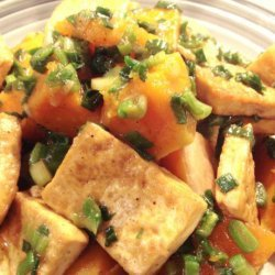 Braised Butternut Squash With Tofu and Green Onions recipe