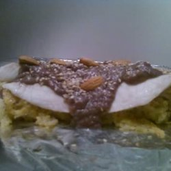 Sailor's Pie With Almond-Pear Sauce #RSC recipe