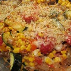 Eggplant, Corn, and Tomato Pie recipe