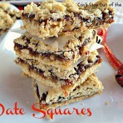 Date Squares recipe