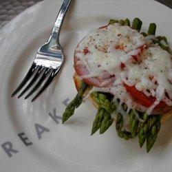 Asparagus Melt With Pesto Spread recipe