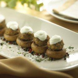 Goat Cheese Stuffed Mushrooms recipe