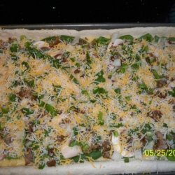 Sausage and Veggie Breakfast Pizza recipe