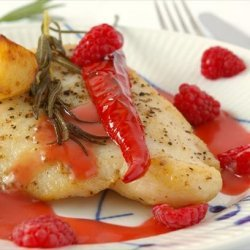 Pan Seared Fish With Raspberry Vinaigrette recipe