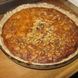 Pecan Walnut Honey Pie With Wheat Crust recipe
