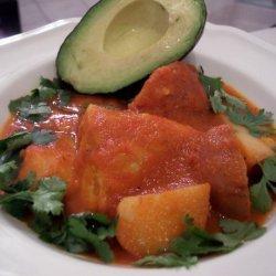 Chicken and Potatoes in Tomato Pepper Sauce recipe