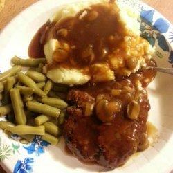 Simple Salisbury Steak W/ Brown Gravy recipe