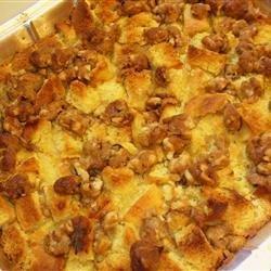 Sweet Potato, Pear and Pineapple Bread Pudding recipe