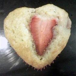 Valentine's Day Strawberry Muffins recipe
