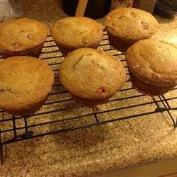 Lemon Cranberry Whole Wheat Muffins recipe