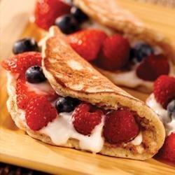 Banana Berry Pancakes recipe
