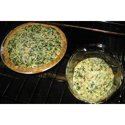 Eggless Tofu Spinach Quiche recipe