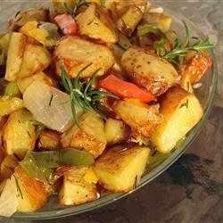 Early Morning Oven Roasted New Potatoes recipe