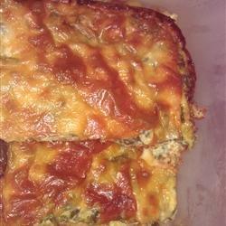 Spinach Muenster Quiche recipe