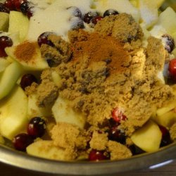 Cranberry Apple Tart recipe
