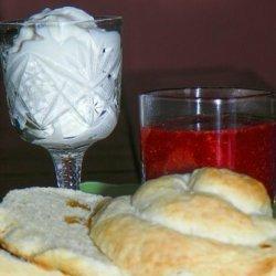 Irish Roly Scones With Cream and Jam!!! recipe