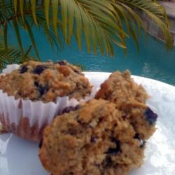 Really Good Low Cal, Low-Fat, Healthy Blueberry Oatmeal Muffins recipe