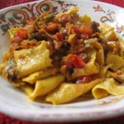 Pappardelle Bolognese Con Verdure recipe