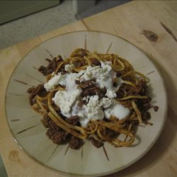 Sweet and Spicy Beef With Egg Noodles recipe