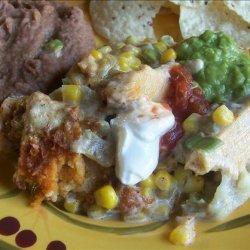 Corn and Green Chili Tamale Casserole recipe