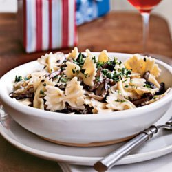 Farfalle with Creamy Wild Mushroom Sauce recipe