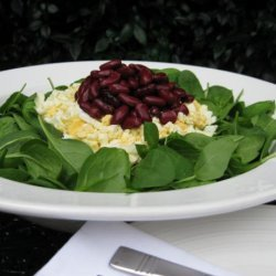 Spinach and Red Kidney Bean Salad recipe