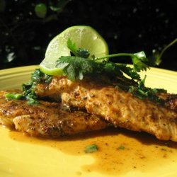 Spiced Chicken With Lime Cilantro Butter recipe