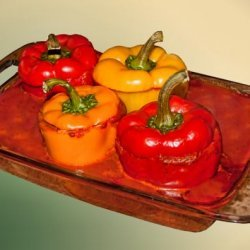 Stuffed Peppers With Black Beans recipe
