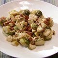 Brussels Sprouts with Bacon and Cheese (Alton Brown) recipe