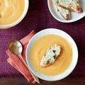 Butternut Squash Soup with Fontina Cheese Crostini (Giada De Laurentiis) recipe