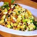 Chopped Apple Salad with Toasted Walnuts, Blue Cheese & Pomegranate Vinaigrette (Bobby Flay) recipe