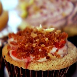 Cinnamon Swirl Sour Cream, Maple Cream Cheese, Strawberry and Bacon Breakfast Cupcake recipe