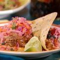 Cuban Pulled Pork Tacos with Guava Glaze, Sour Orange Red Cabbage-Jicama Slaw and Chipotle Mayonnaise (Bobby Flay) recipe
