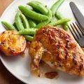 Grilled Chicken Breasts with Spicy Peach Glaze recipe