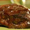 Grilled Filet Mignon with Chocolate Coffee BBQ Sauce recipe