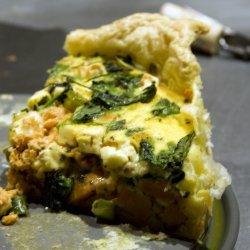 Sweet Potato and Salmon Quiche recipe