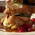 Oven-roasted Turkey Breast with Leeks and Cornbread Stuffing (Tyler Florence) recipe