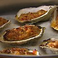 Oysters Casino with Red Bell Peppers, Chili and Bacon (Tyler Florence) recipe