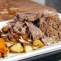 Pot Roast with Roasted Root Vegetables (Sandra Lee) recipe