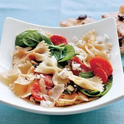 Farfalle with Tomatoes, Onions, and Spinach recipe