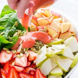 Spinach and Pear Salad recipe